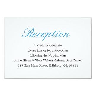 Tarjeta simple y elegante de la recepción comunicado personal