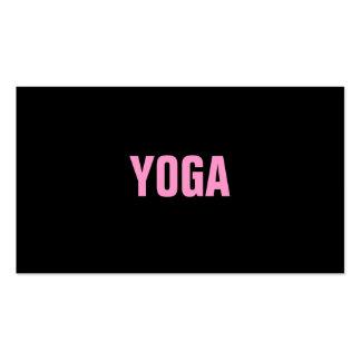 Tarjeta simple y llana del instructor de la YOGA d Plantilla De Tarjeta De Negocio