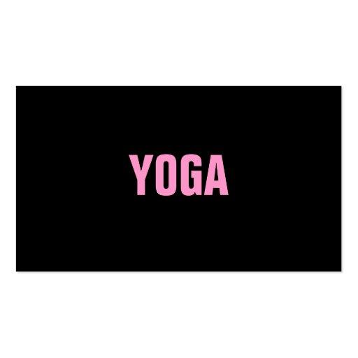 Tarjeta simple y llana del instructor de la YOGA Plantilla De Tarjeta De Negocio