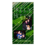 Tarjeta Sledding verde moderna de la foto del día  Tarjeta Personal Con Foto
