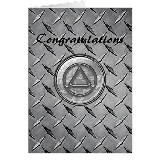 Tarjeta sobria de la enhorabuena del AA de la
