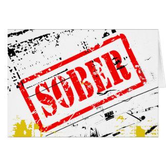 Tarjeta sobria de la recuperación de la sobriedad