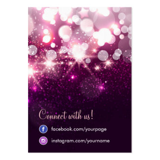 Tarjeta social del pendiente de la red de la tarjetas de visita grandes