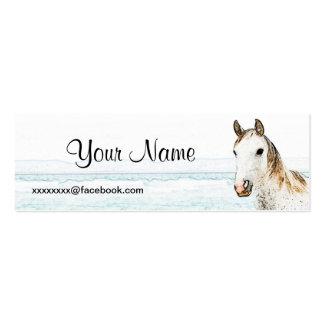 Tarjeta social flaca tarjetas de visita mini