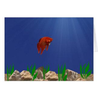 Tarjeta sola de los pescados