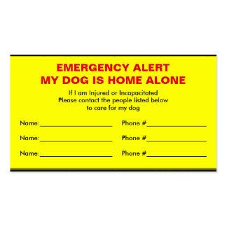 Tarjeta sola del hogar de la alarma de la tarjetas de visita