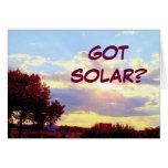 Tarjeta SOLAR CONSEGUIDA