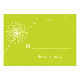 Tarjeta soñadora del lugar del boda del diente de tarjeta de visita
