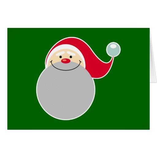 Tarjeta sonriente de Papá Noel