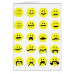 Tarjeta sonriente del bigote de la cara de Moodsta