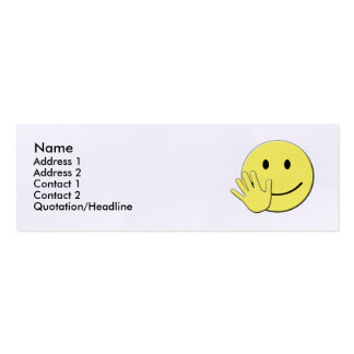 Tarjeta sonriente del contacto tarjetas de visita mini