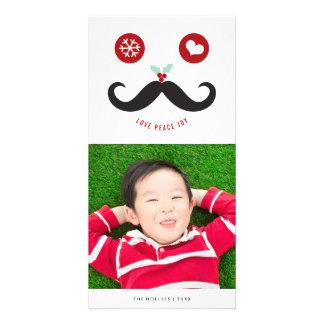 Tarjeta sonriente linda de la foto del día de tarjeta fotografica personalizada