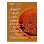 tarjeta suave de la receta del chile tarjetas postales