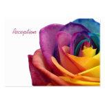 Tarjeta subió arco iris de la recepción plantillas de tarjeta de negocio