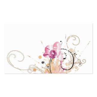 Tarjeta sucia del perfil de las orquídeas tarjetas de visita