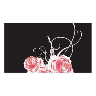 Tarjeta sucia del perfil de los rosas plantilla de tarjeta de visita
