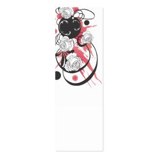 Tarjeta sucia del perfil de los rosas tarjeta personal