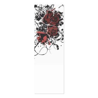 Tarjeta sucia del perfil de los rosas tarjetas personales