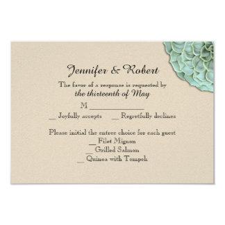 Tarjeta suculenta sabia de la respuesta del boda invitación 8,9 x 12,7 cm