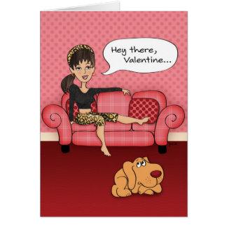 Tarjeta sugestiva divertida del día de San Valentí