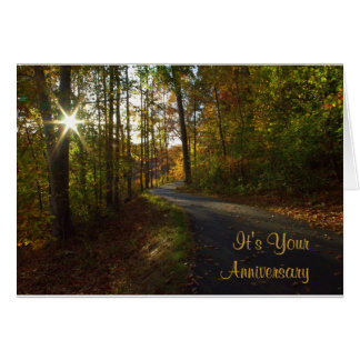 Tarjeta Sunlit del aniversario de la trayectoria