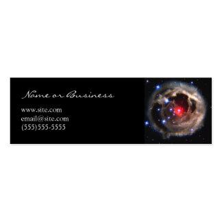 Tarjeta supergigante roja del perfil tarjetas de visita mini