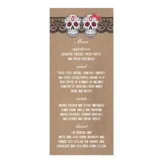 """Tarjeta superior 4x9.25 del menú del boda del invitación 4"""" x 9.25"""""""