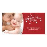 Tarjeta superior colgante de la foto del ornamento tarjetas fotograficas personalizadas