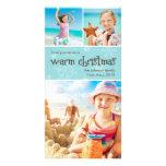 Tarjeta superior de la foto 4x8 del navidad calien tarjeta fotografica personalizada