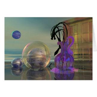 Tarjeta surrealista 3d