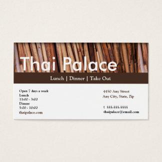 Tarjeta tailandesa de la lealtad de la tarjeta de tarjetas de visita