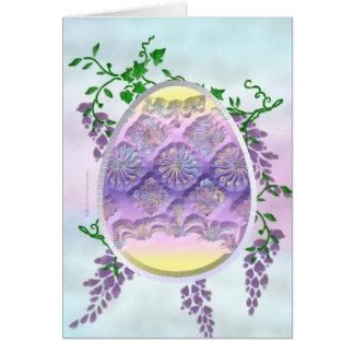 Tarjeta tallada del huevo de Pascua