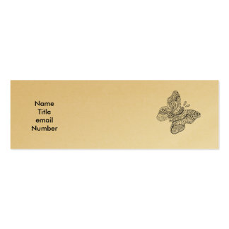 Tarjeta tatuada del perfil de la mariposa tarjetas de visita mini