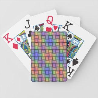 Tarjeta tejida elegante diseñada para cada uno baraja cartas de poker