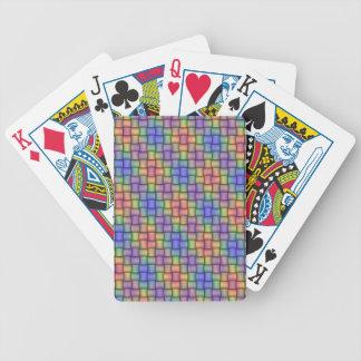 Tarjeta tejida elegante diseñada para cada uno barajas de cartas