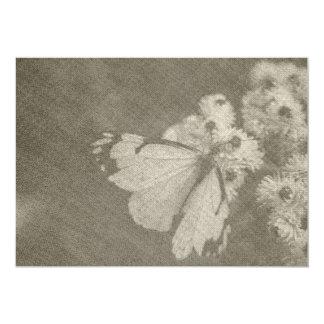 """Tarjeta temática de la mariposa invitación 5"""" x 7"""""""
