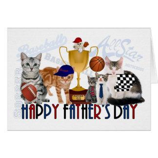 Tarjeta temática del día de padre del deporte de