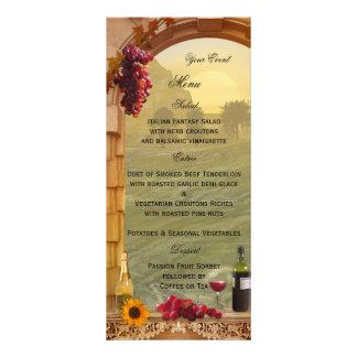 Tarjeta temática del menú del viñedo o del vino tarjetas publicitarias personalizadas