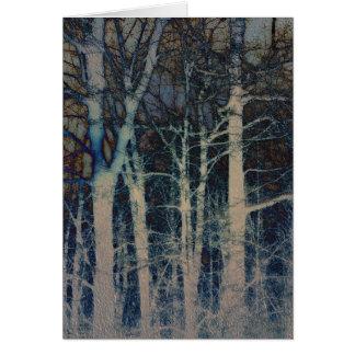Tarjeta texturizada del extracto del invierno