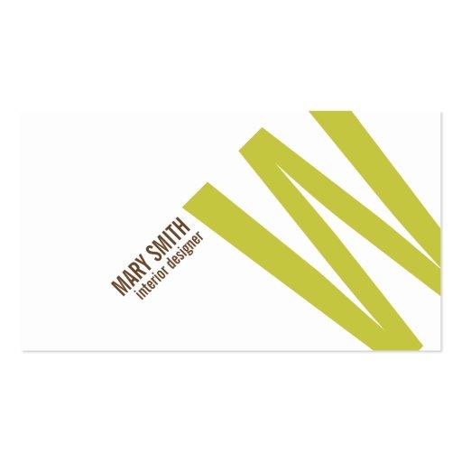 tarjeta tipográfica del monograma de 45 grados (ca tarjeta de negocio