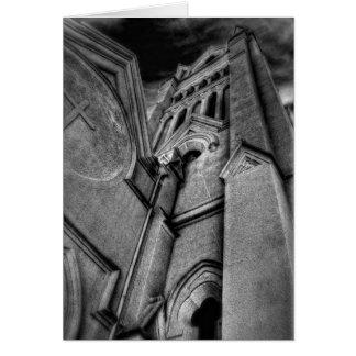 Tarjeta Torre-En blanco de la iglesia
