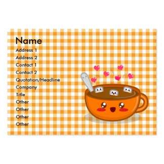 Tarjeta tórrida del perfil del chocolate caliente tarjeta de visita