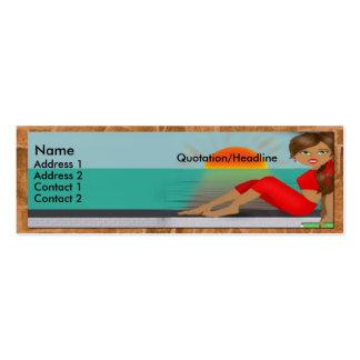 Tarjeta toscana del perfil de la diva tarjetas de negocios