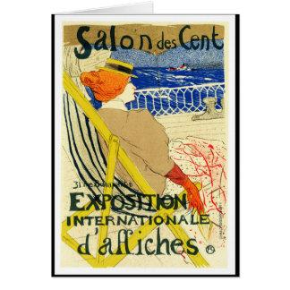 Tarjeta: Toulouse Lautrec - centavo del DES del sa