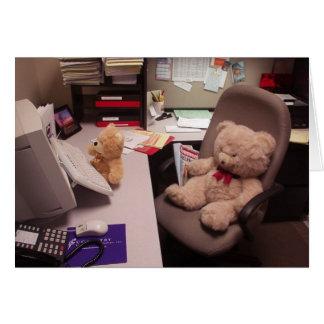 Tarjeta trabajadora de los osos de peluche