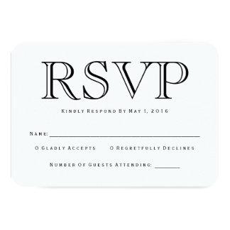 "Tarjeta tradicional de Calson RSVP Invitación 3.5"" X 5"""