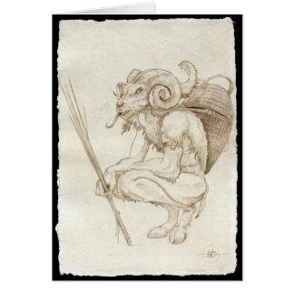 Tarjeta tradicional de Krampus