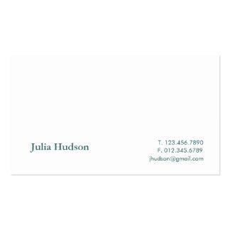 Tarjeta tradicional del Hudson Tarjetas De Visita