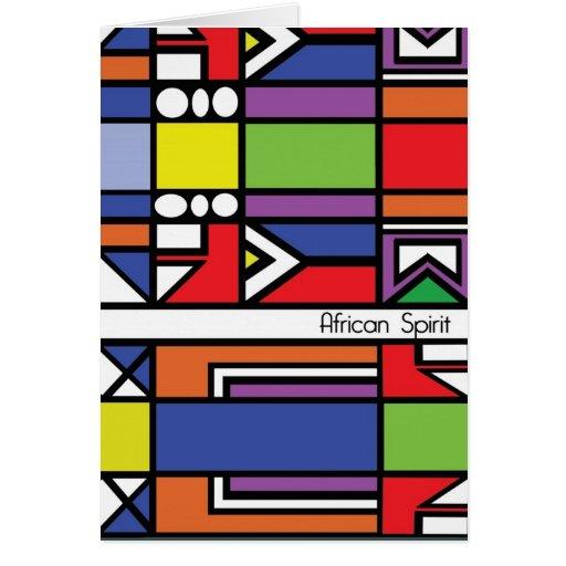 Tarjeta tradicional del Zulú