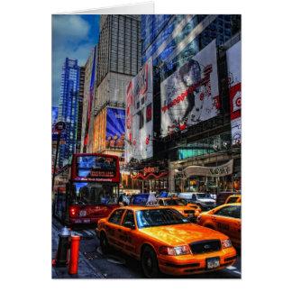 Tarjeta Tráfico-En blanco de New York City